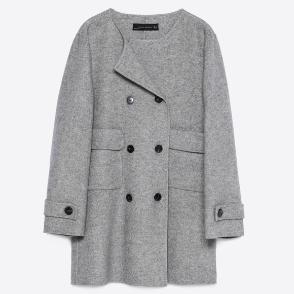 237d01cd Zara Jackets & Coats | Womens Handmade Coat Gray Size Small | Poshmark